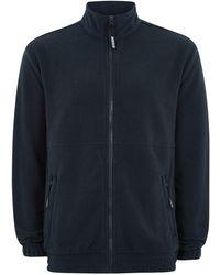 TOPMAN - Vision Street Wear Navy Fleece Track Top - Lyst