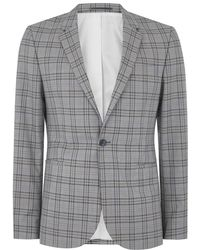 TOPMAN - Blue And Gray Check Ultra Skinny Suit Jacket - Lyst