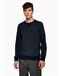 SELECTED - Navy Sweatshirt - Lyst