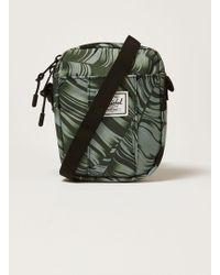 TOPMAN - Herschel Black 'palm Cruz' Cross Body Bag - Lyst