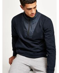 Nicce London - Navy Zip Track Top - Lyst