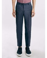 SELECTED | 's Blue Cropped Trousers | Lyst