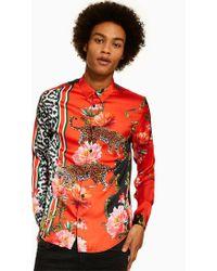 45bace1bf1 Jaded Tiger Floral Revere Short Sleeve Shirt for Men - Lyst