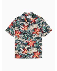 TOPMAN - Urfer Orchid Revere Shirt - Lyst