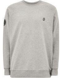 Jog On - Grey Loopback Raglan Sweatshirt - Lyst