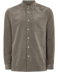 Topman | Ltd Grey Kai Velveteen Shirt | Lyst