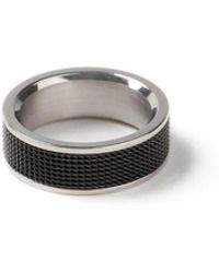 Topman   Black Mesh Ring   Lyst