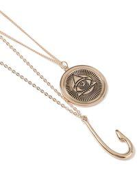 TOPMAN - Gold Hook Necklace - Lyst