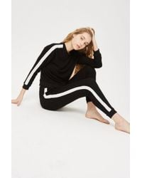 TOPSHOP - Side Striped Joggers - Lyst