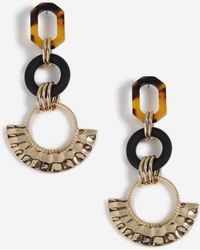 TOPSHOP - tortoiseshell Section Drop Earrings - Lyst