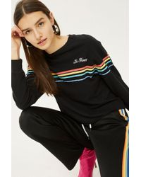 TOPSHOP - Long Sleeve Be Happy Rainbow - Lyst