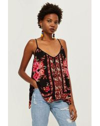 d8a43ea0a8c2c7 Band Of Gypsies - Rose Mix Print Camisole Top By - Lyst