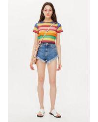 TOPSHOP - Studded Kiri Shorts - Lyst