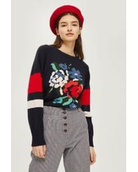 TOPSHOP - Sally Knitted Jumper By - Lyst