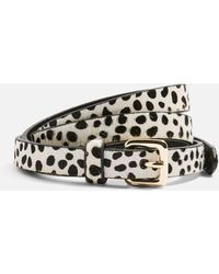 TOPSHOP - Dalmatian Print Wrap Belt - Lyst
