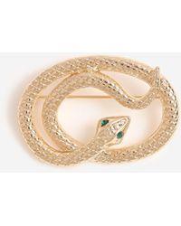TOPSHOP twisted Snake Brooch