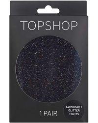 TOPSHOP - Super Soft Glitter Tights - Lyst