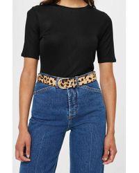 TOPSHOP - Leopard Print Belt - Lyst