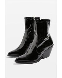 TOPSHOP - Mission Patent Western Boots - Lyst