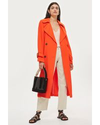 TOPSHOP - Batwing Trench Coat - Lyst