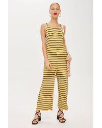 TOPSHOP - Striped Slouch Jumpsuit - Lyst