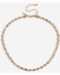 TOPSHOP - Thick Twist Chain Necklace - Lyst