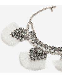 TOPSHOP - Rhinestone Fringe Choker Necklace - Lyst
