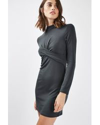 TOPSHOP - Petite Twist Front Crop Dress - Lyst