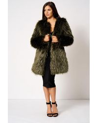 Club L - Faux Fur Long Coat By - Lyst