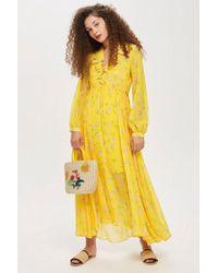 TOPSHOP - Floral Maxi Dress - Lyst