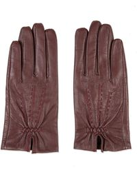 TOPSHOP - Core Stitch Leather Gloves - Lyst