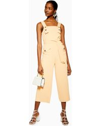 85014812c8b Lyst - TOPSHOP Plunge Front Tailored Jumpsuit By Rare in Green