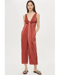 TOPSHOP - Wide Leg Jumpsuit By Native Youth - Lyst