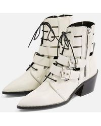 TOPSHOP - Agate Low Ankle Boots - Lyst