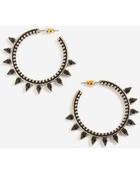 TOPSHOP - Stone Point Hoops - Lyst