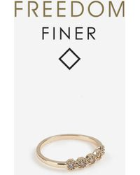 TOPSHOP freedom Finer Hex Stone Ring - White
