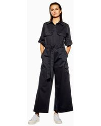 fe8dda276a6 TOPSHOP Tailored Bandeau Jumpsuit in Pink - Lyst