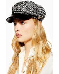 TOPSHOP - Boucle Baker Boy Hat - Lyst