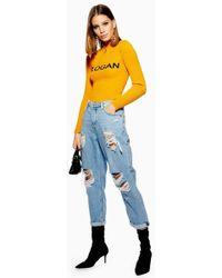 TOPSHOP - Bleach Super Ripped Hayden Jeans - Lyst
