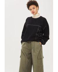 TOPSHOP - Petite Stab Stitch Sweatshirt - Lyst