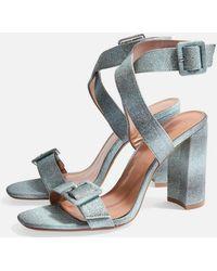 TOPSHOP - Sazzle Two Part Sandals - Lyst