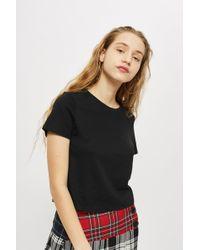 TOPSHOP - Petite Basic Cropped T-shirt - Lyst