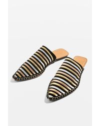 TOPSHOP - Kopper Pointed Mules - Lyst