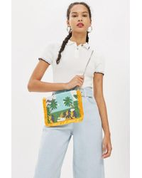 TOPSHOP - Holiday Clutch Bag - Lyst