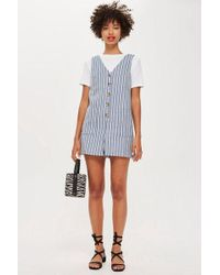171cc824f969 Topshop Elina Playsuit By Tfnc in Blue - Lyst