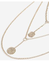 TOPSHOP - Disc Drop Y Neck Multirow Necklace - Lyst