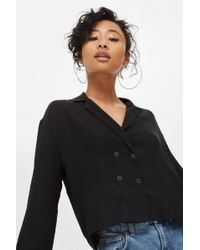 TOPSHOP - Button Down Wrap Blouse - Lyst
