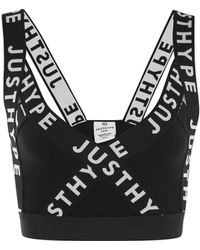Hype - Black Taping Strap Bralet By - Lyst