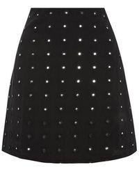 Wyldr - mirror Work Mini Skirt By - Lyst