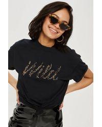 TOPSHOP - Tall 'wild' Slogan T-shirt - Lyst